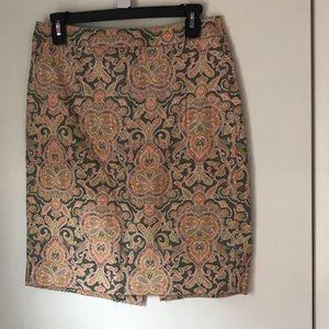J.Crew Pencil Skirt Paisley Sz 4